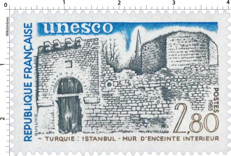 1983 Unesco TURQUIE : ISTANBUL - MUR D'ENCEINTE INTÉRIEUR