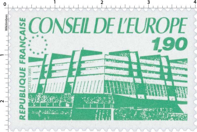 1986 CONSEIL DE L'EUROPE
