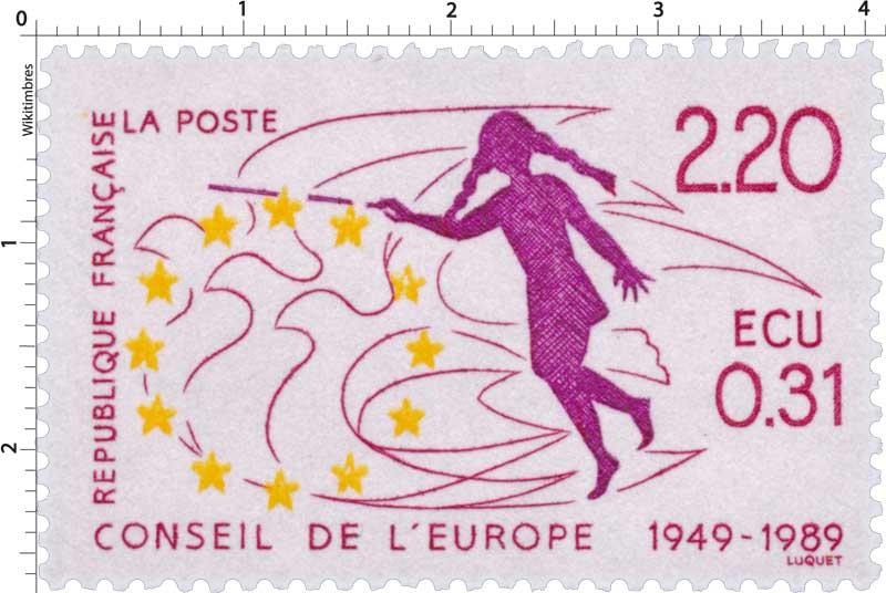 CONSEIL DE L'EUROPE 1949 - 1989