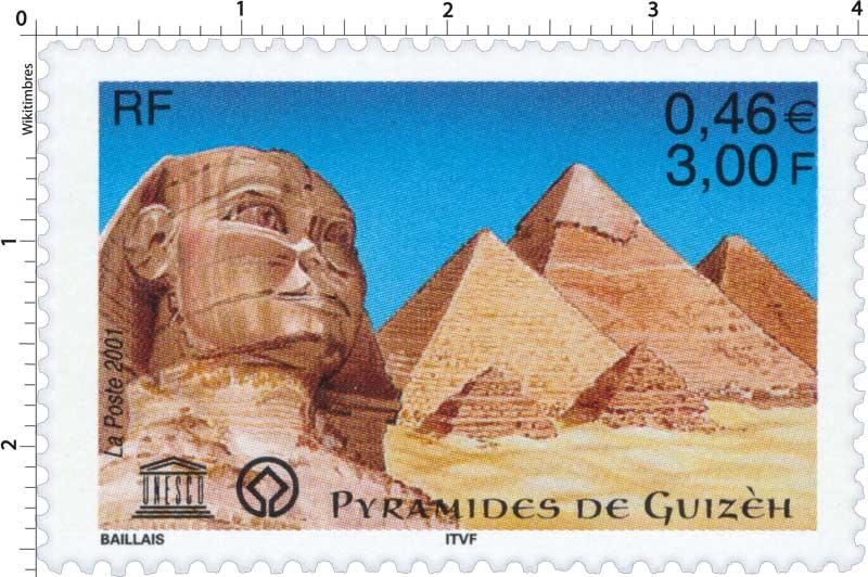 2001 UNESCO PYRAMIDES DE GUIZEH