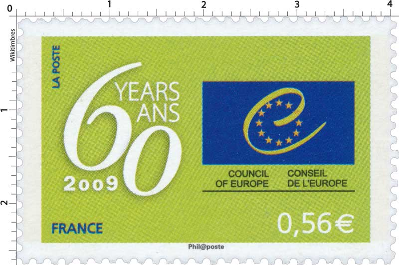 2009 Conseil de l'Europe 60 ans / Council of Europe 60 years/ans