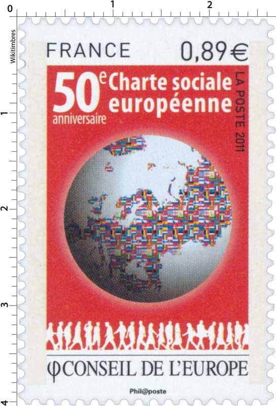 2011 Conseil de l'Europe 50e charte sociale européenne