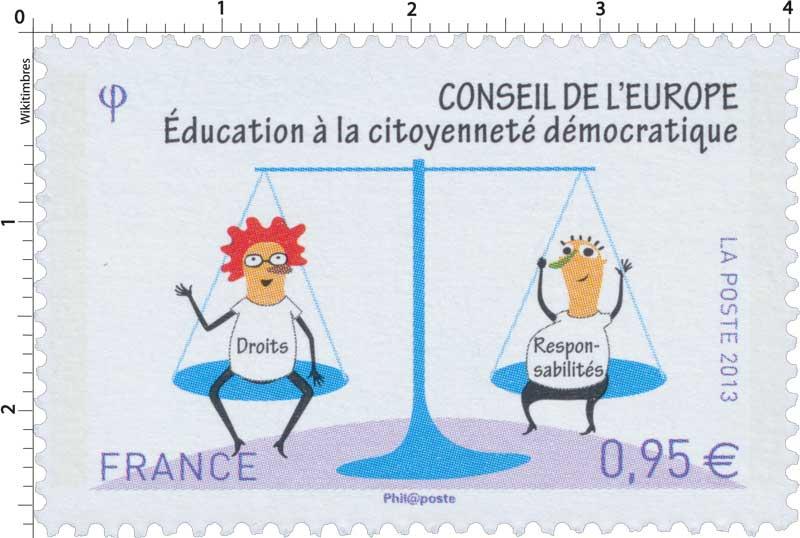 2013 Conseil de l'Europe éducation à la  citoyenneté démocratique