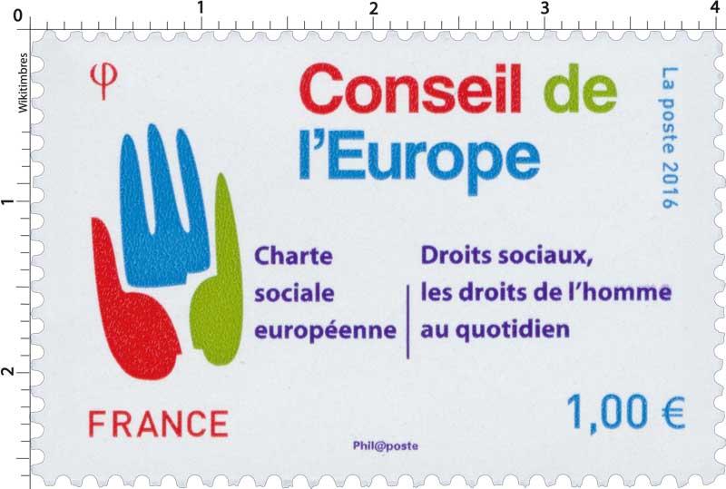 2016 Conseil de l'Europe - Charte sociale européenne - Droits sociaux, les droits de l'homme au quotidien