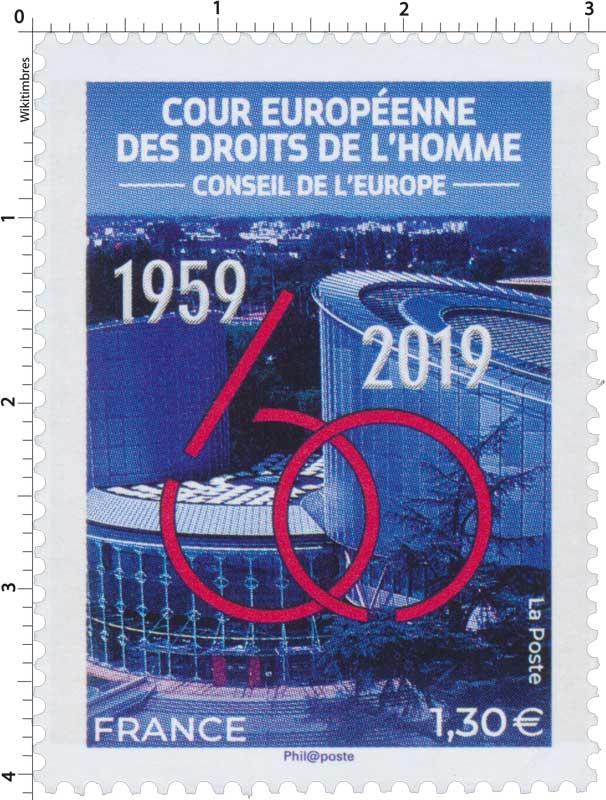 Conseil de l'Europe  Cour Européenne des Droits de l'Homme 1959 - 2019