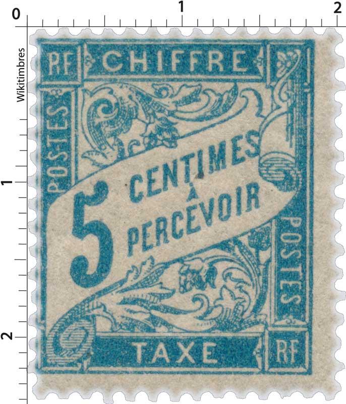 CHIFFRE TAXE A PERCEVOIR - type Duval