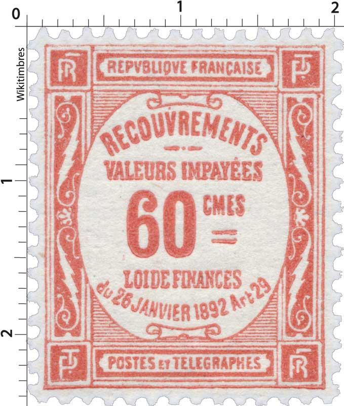 RECOUVREMENTS VALEURS IMPAYÉES LOI DE FINANCES du 26 janviers 1892 Art 29