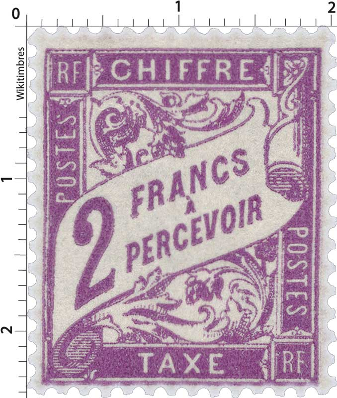 CHIFFRE TAXE A PERCEVOIR - type Duval