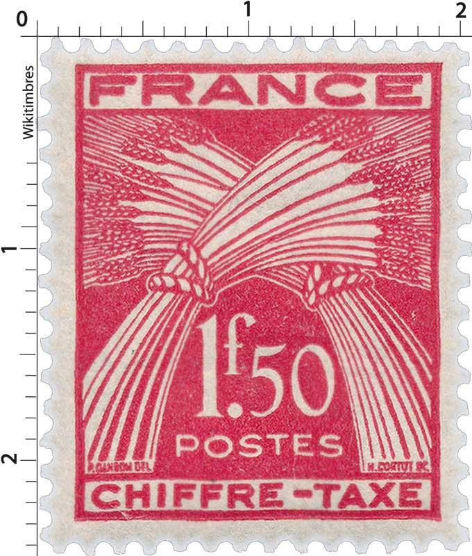 CHIFFRE-TAXE - type gerbes de blé