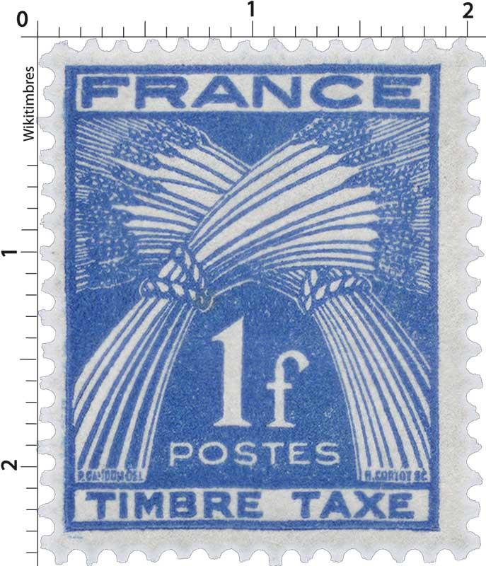 TIMBRE-TAXE - type gerbes de blé