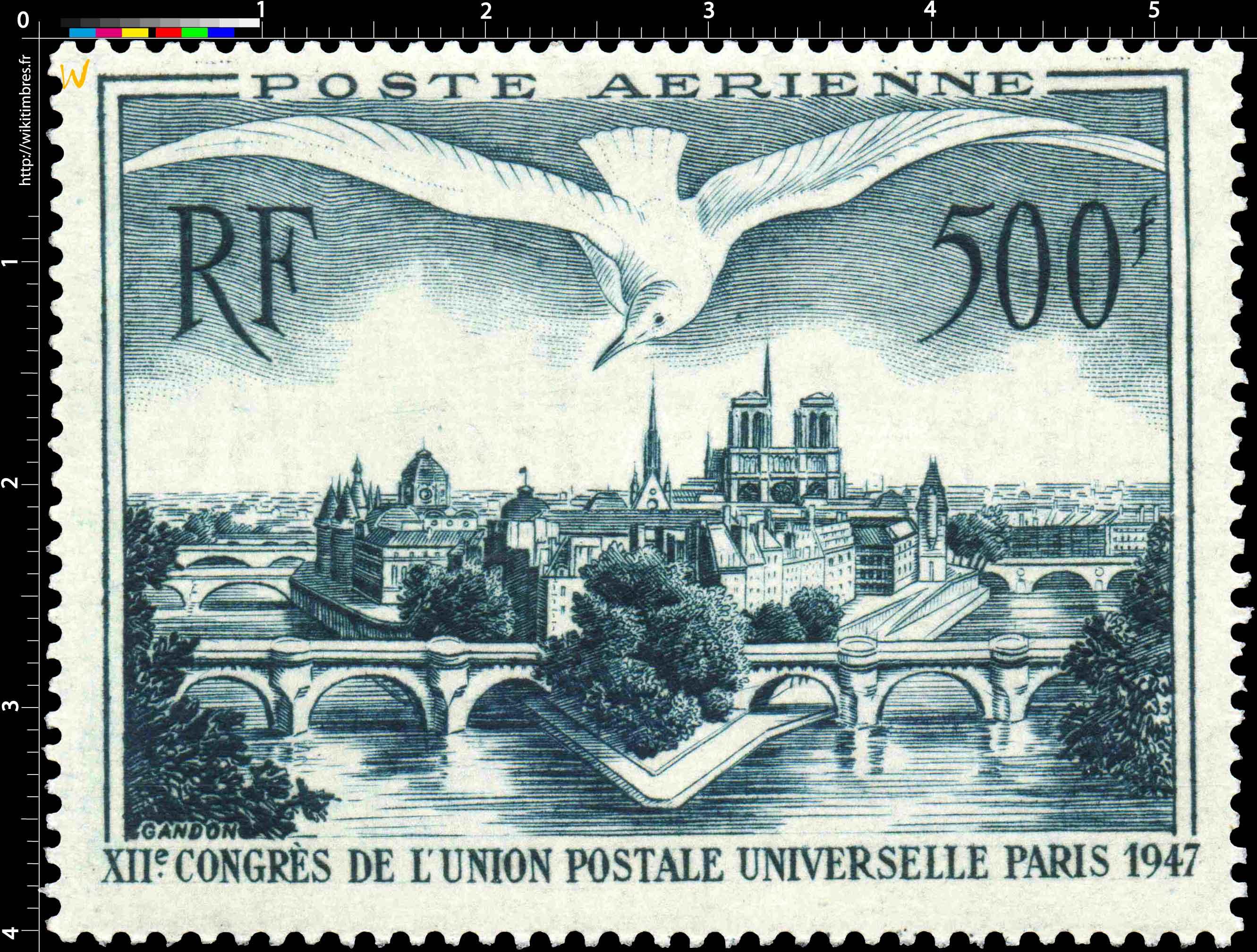 XIIe CONGRÈS DE L'UNION POSTALE UNIVERSELLE PARIS 1947