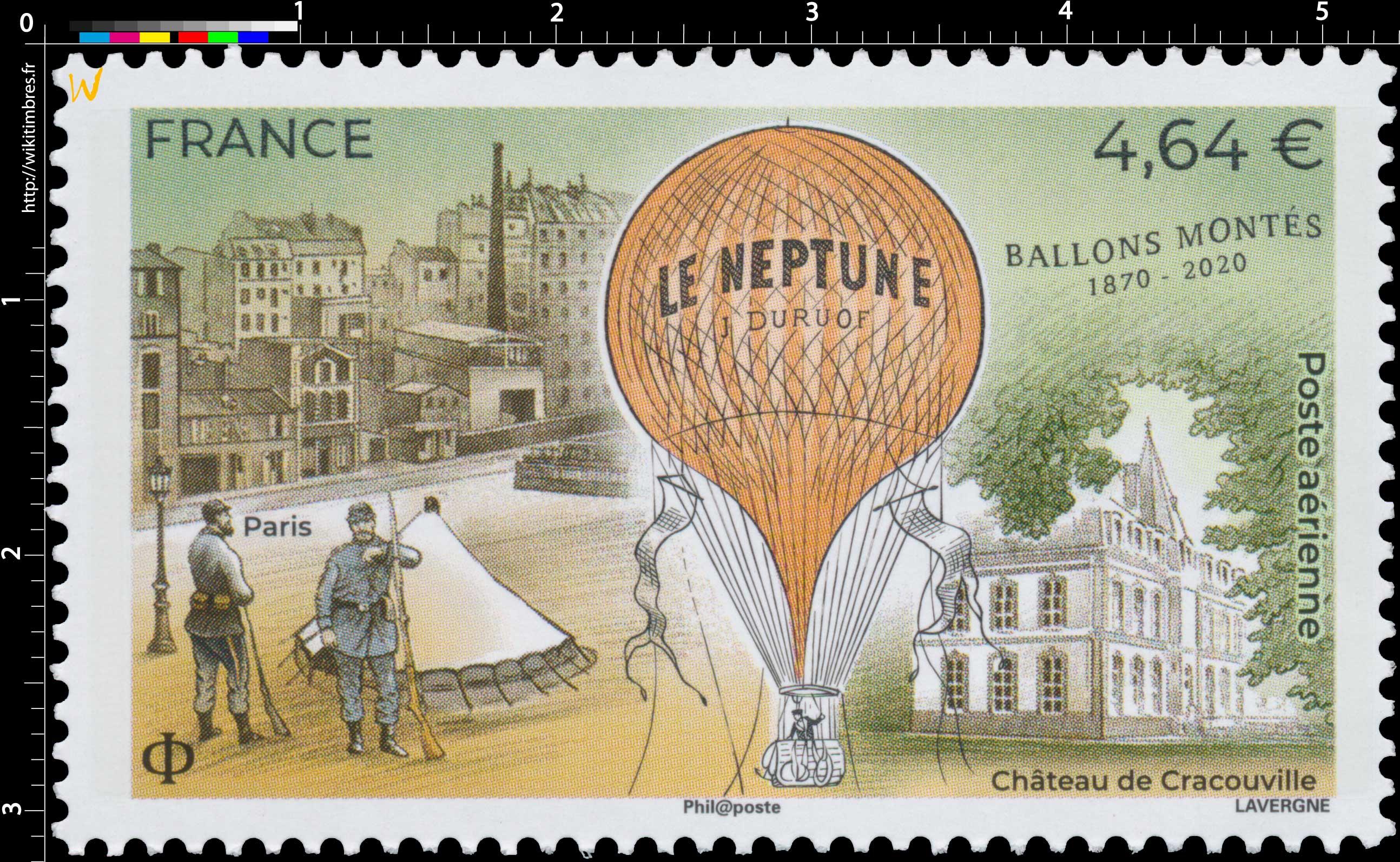 2020 Ballons Montés 1870 - 2020 - Le Neptune J.Duruof
