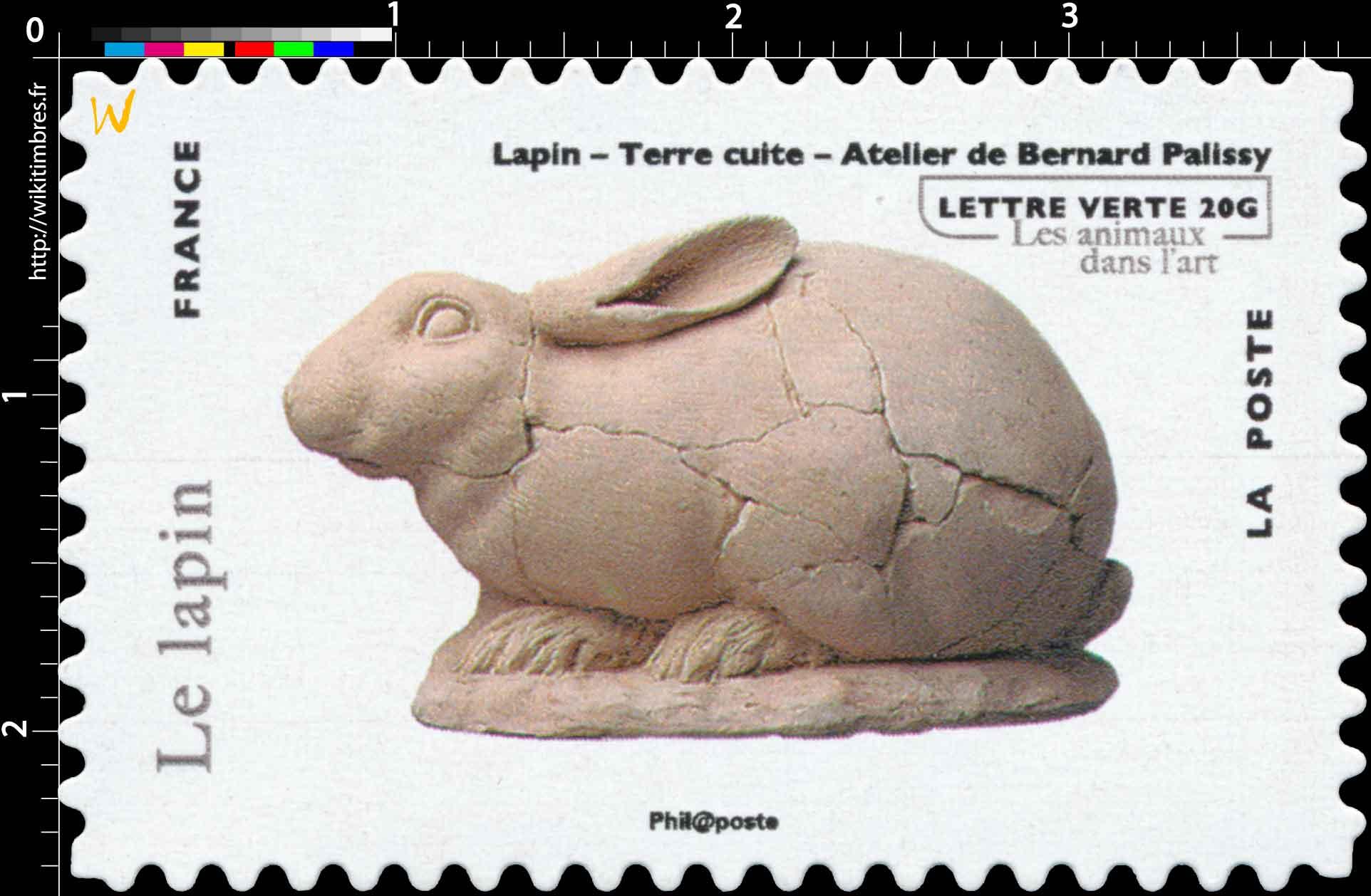 Lapin - Terre cuite - Atelier de Bernard Palissy- les animaux dans l'art
