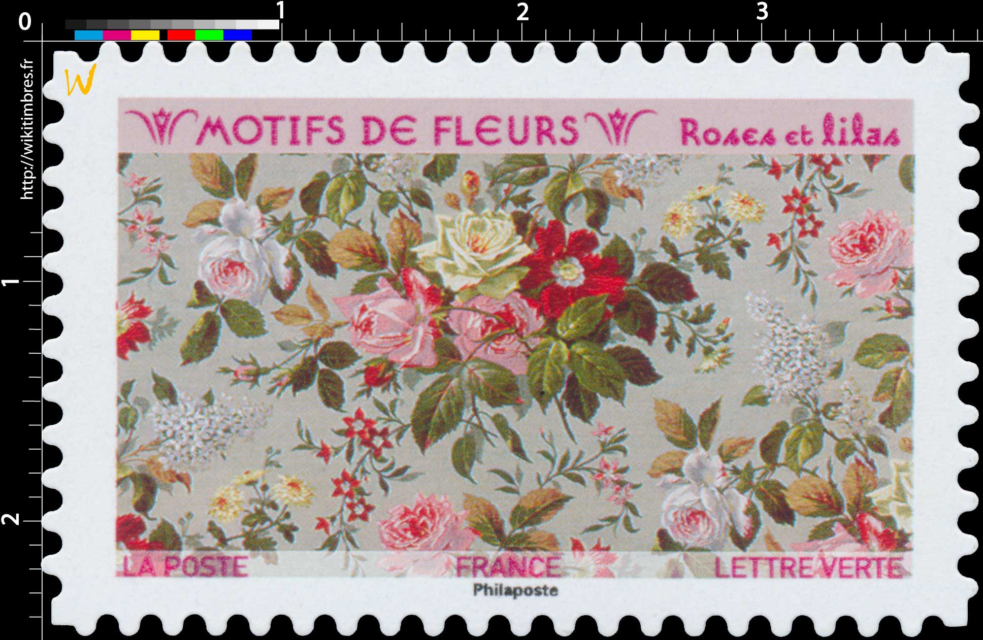 2021 Motifs de fleurs - Roses et lilas