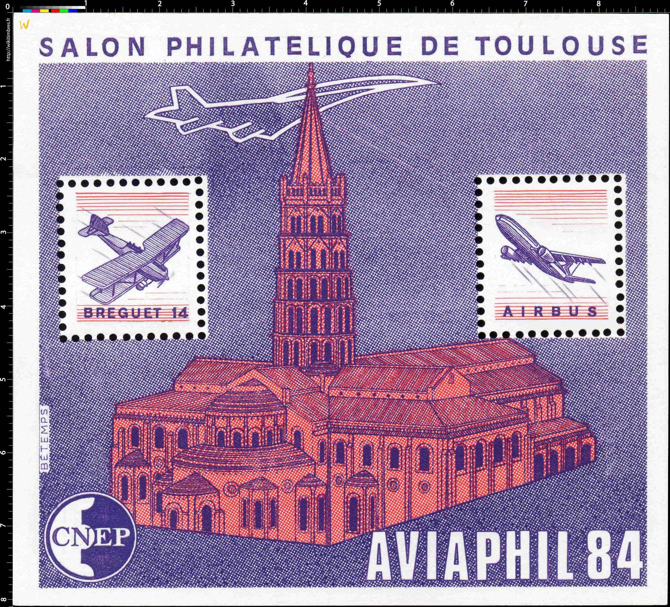 84 AVIAPHIL Salon philatélique de Toulouse CNEP
