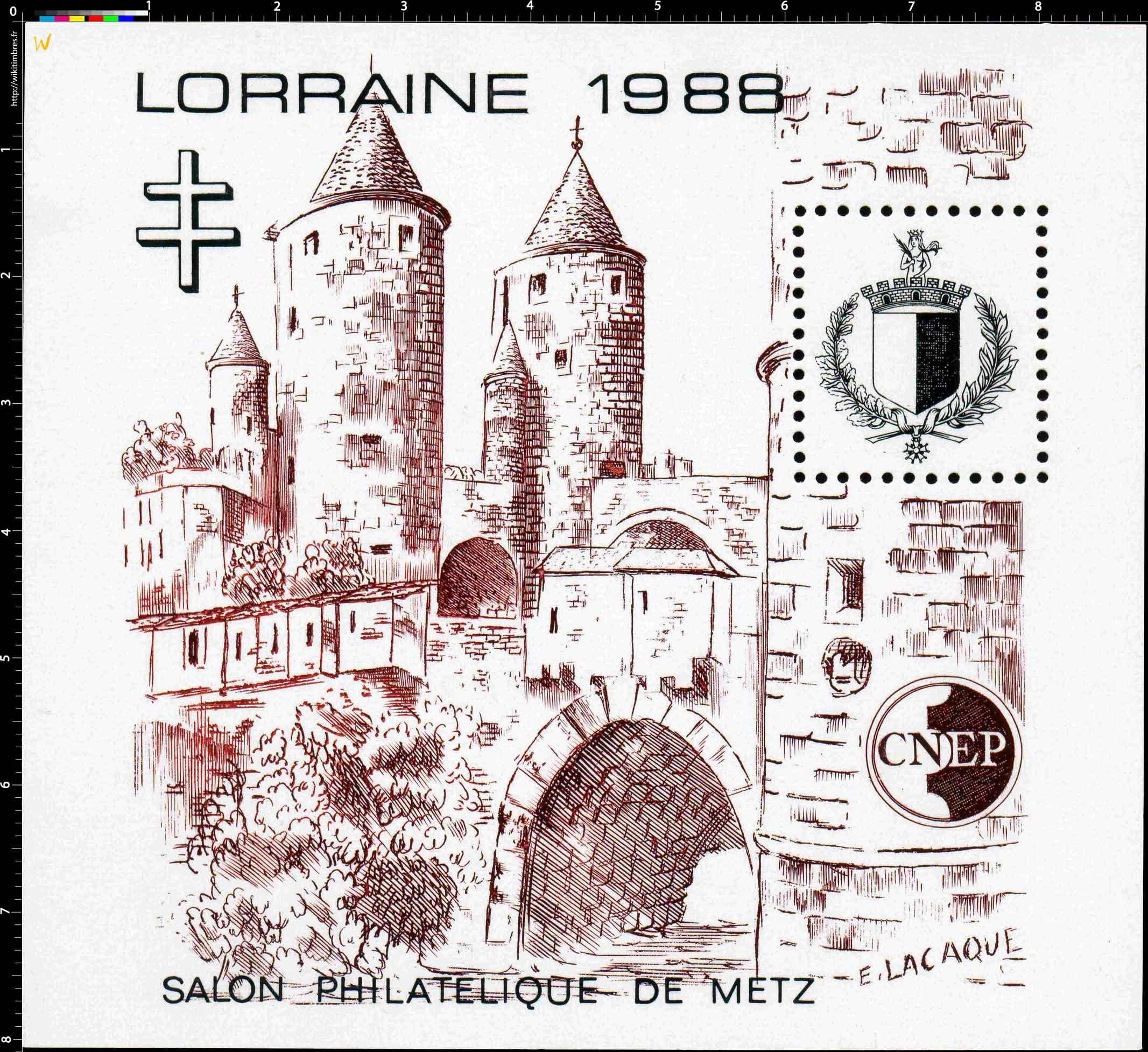 1988 Lorraine Salon philatélique de Metz CNEP