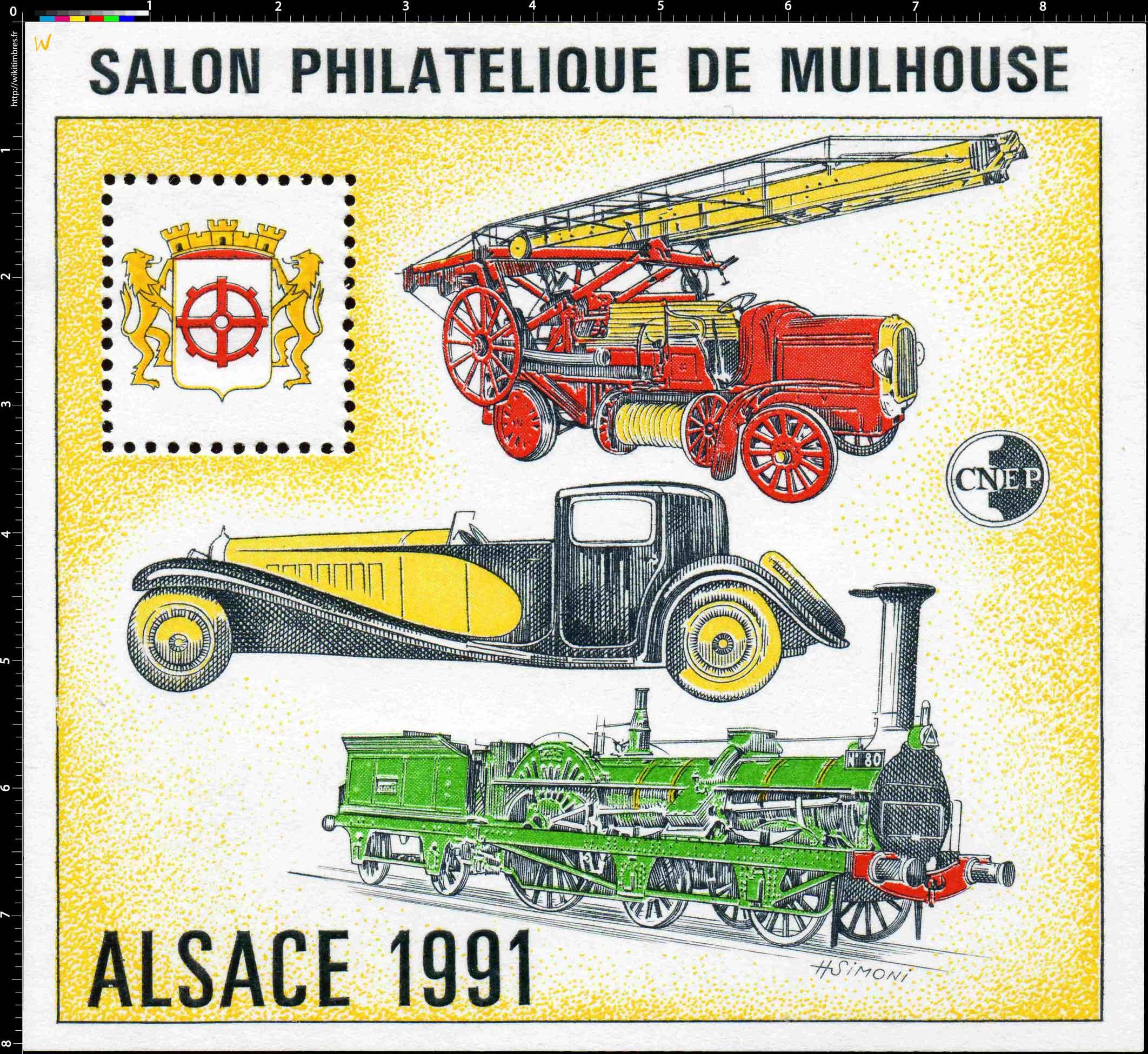 1991 Alsace Salon philatélique de Mulhouse CNEP