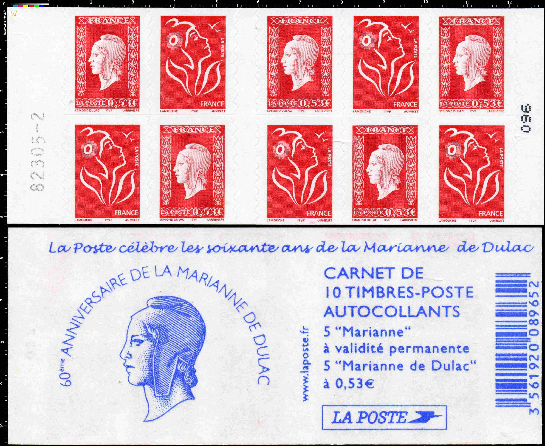 2005 La Poste célèbre les soixante ans de la Marianne de Dulac