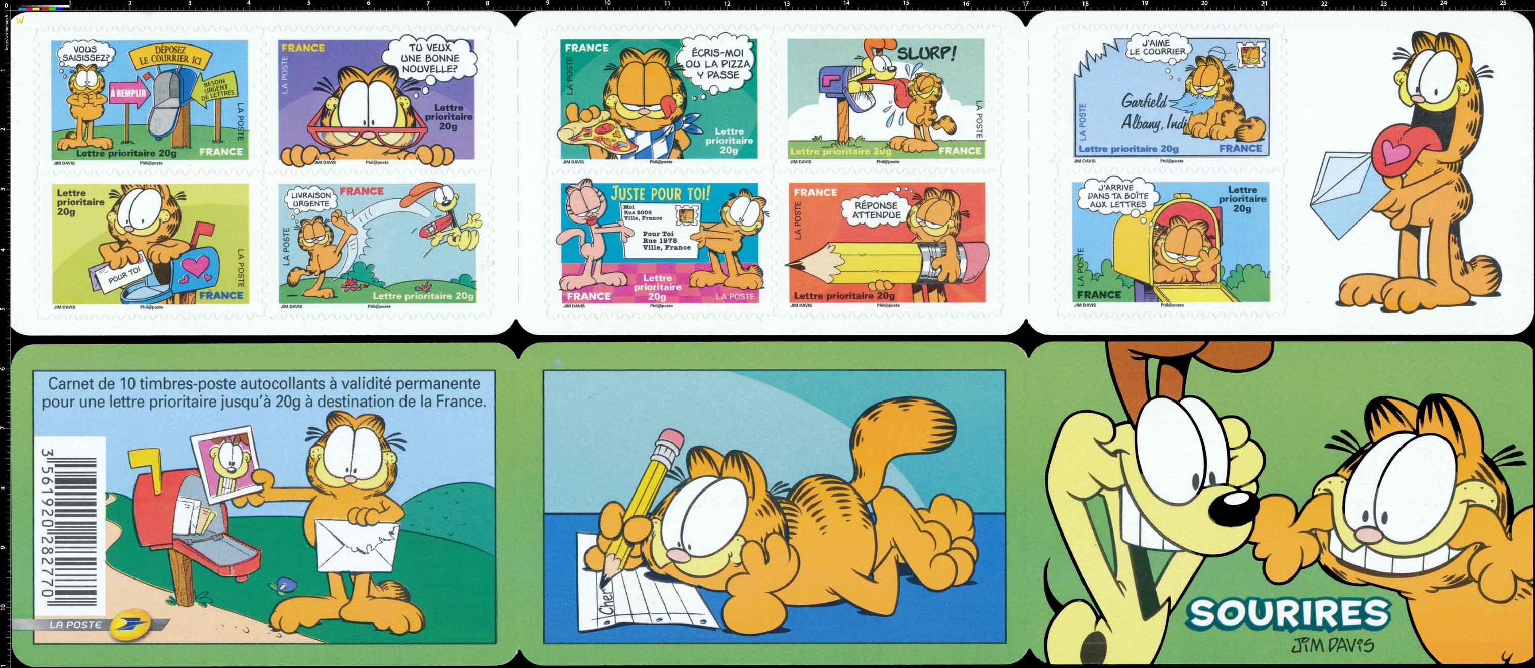Carnet sourires : Garfield