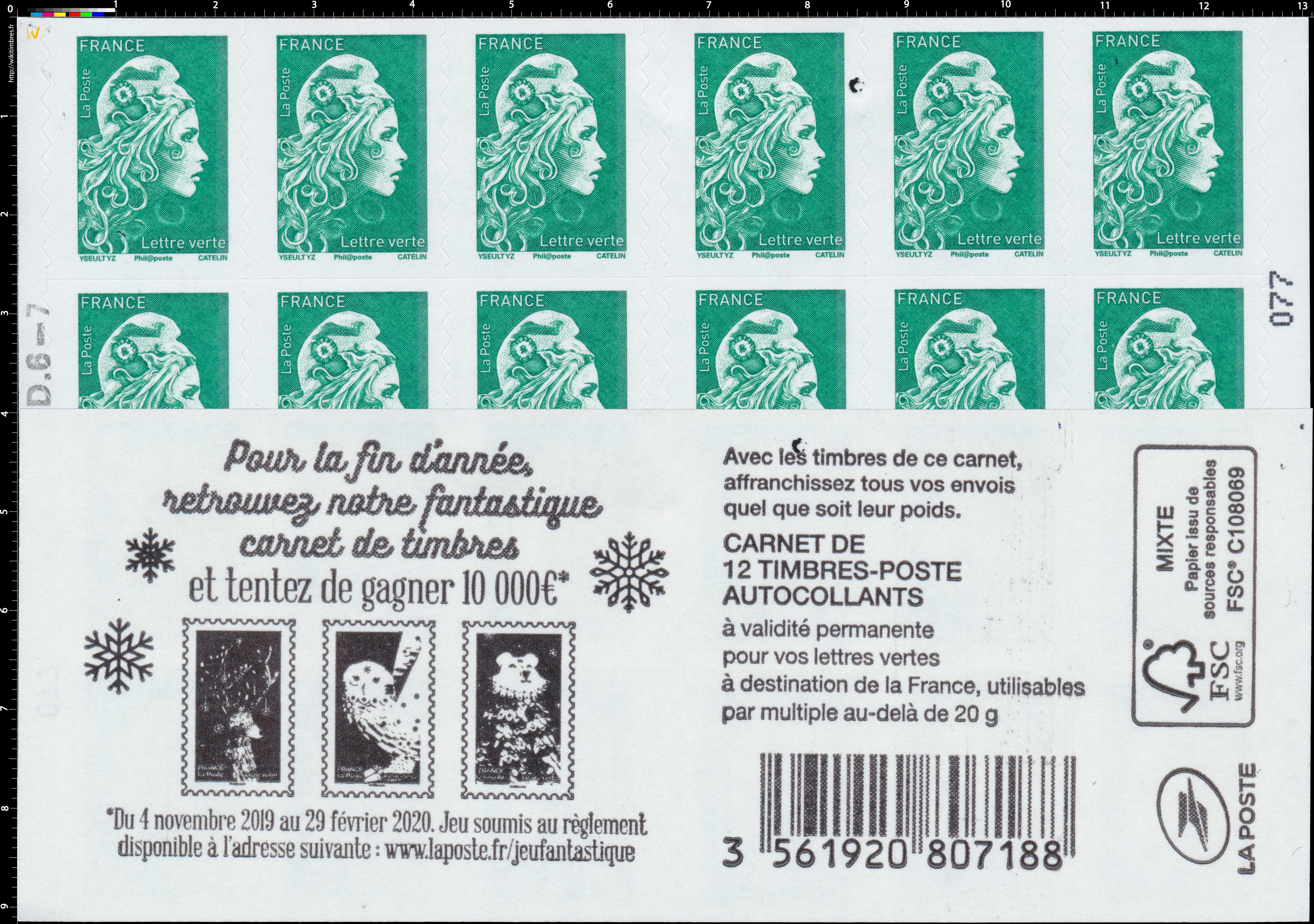 2019 Pour la fin de l'année retrouvez notre fantastique carnet de timbres - et tentez de gagner 10 000 €
