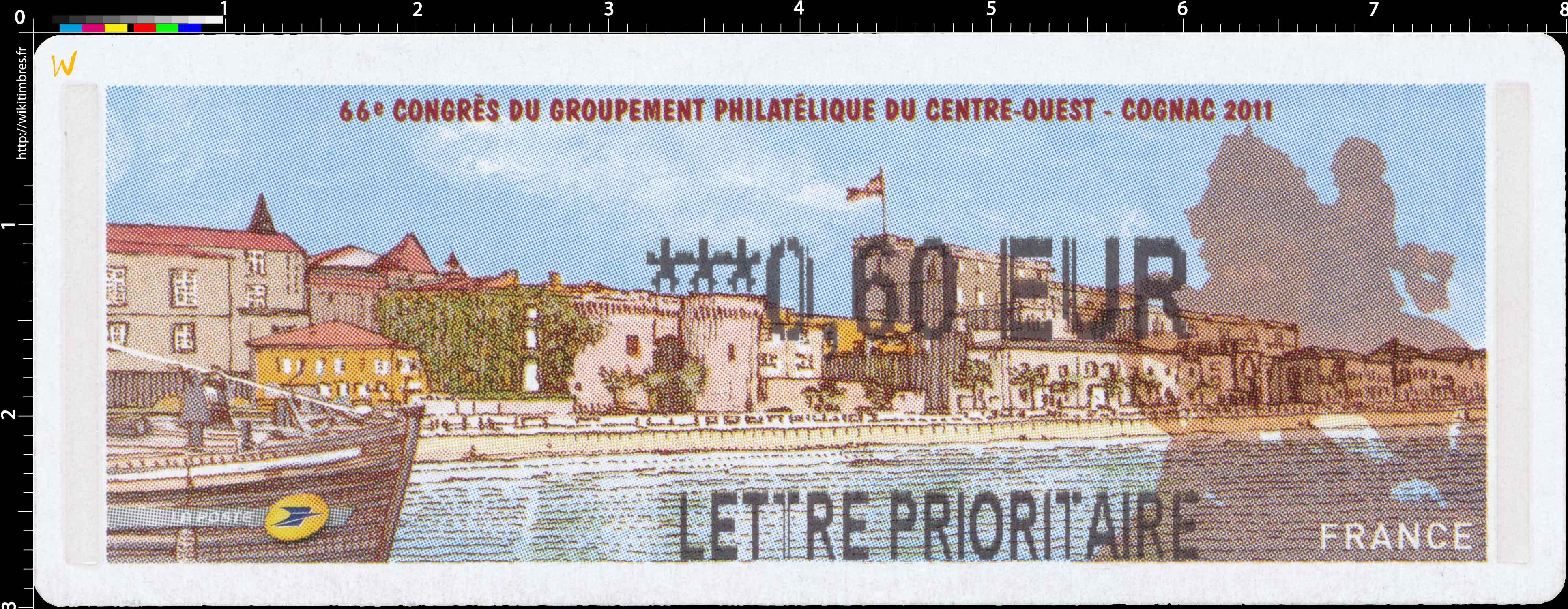 66e Congrès du groupement philatélique du centre-ouest - cognac 2011