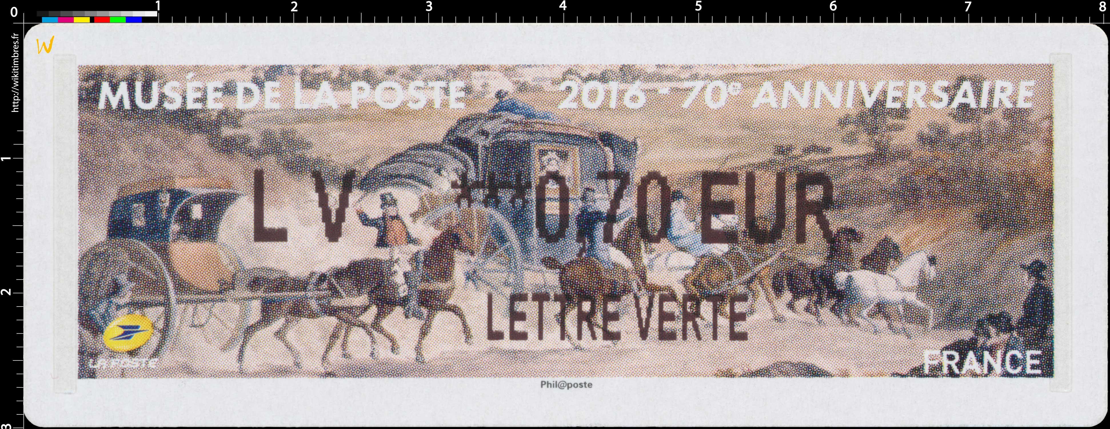 2016 Musée de La Poste - 70e Anniversaire