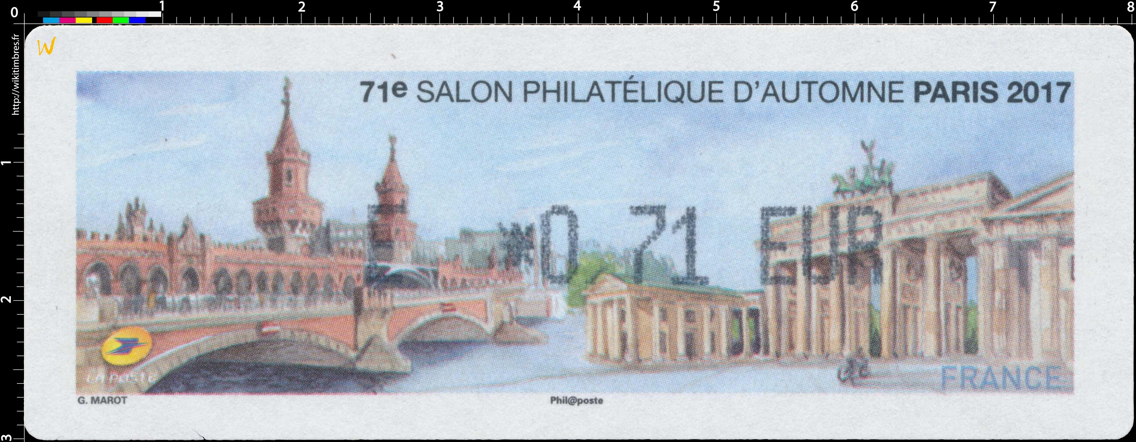 2017 71e Salon Philatélique d'Automne Paris