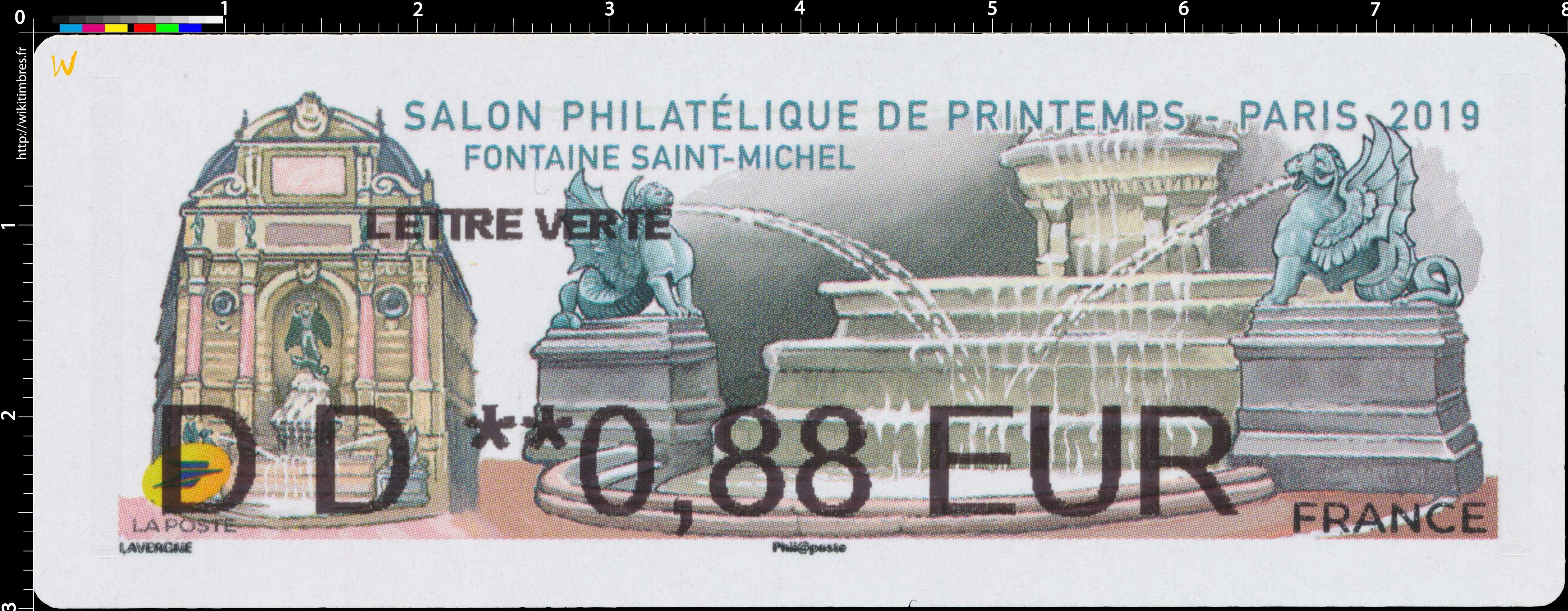 2019 Salon philatélique de printemps - Fontaine Saint-Michel - Paris