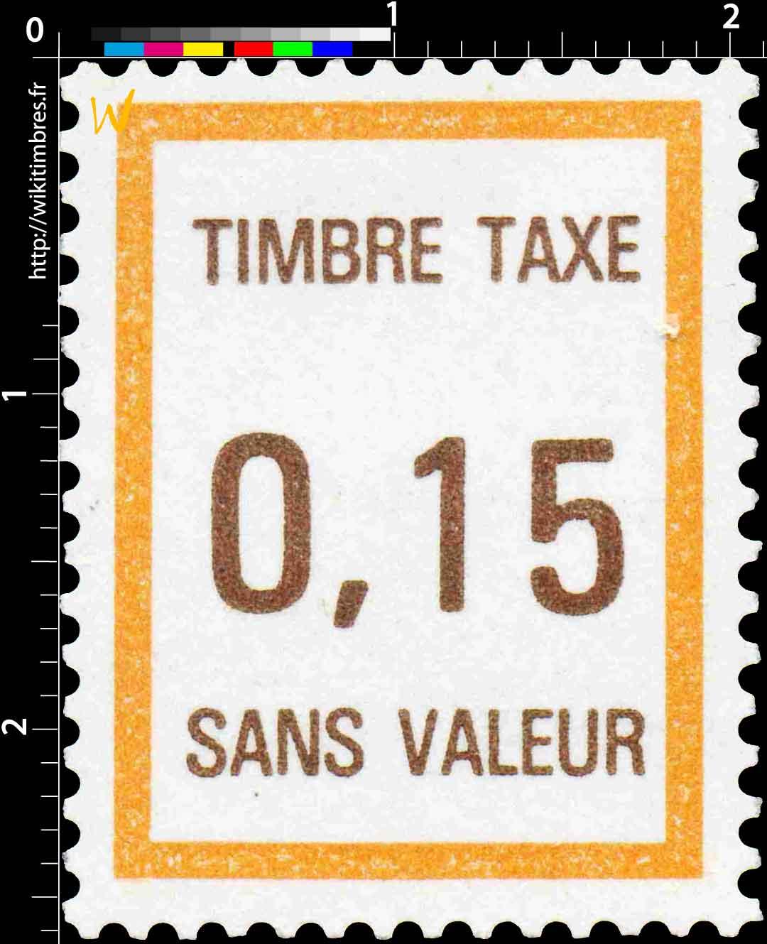 TIMBRE TAXE SANS VALEUR