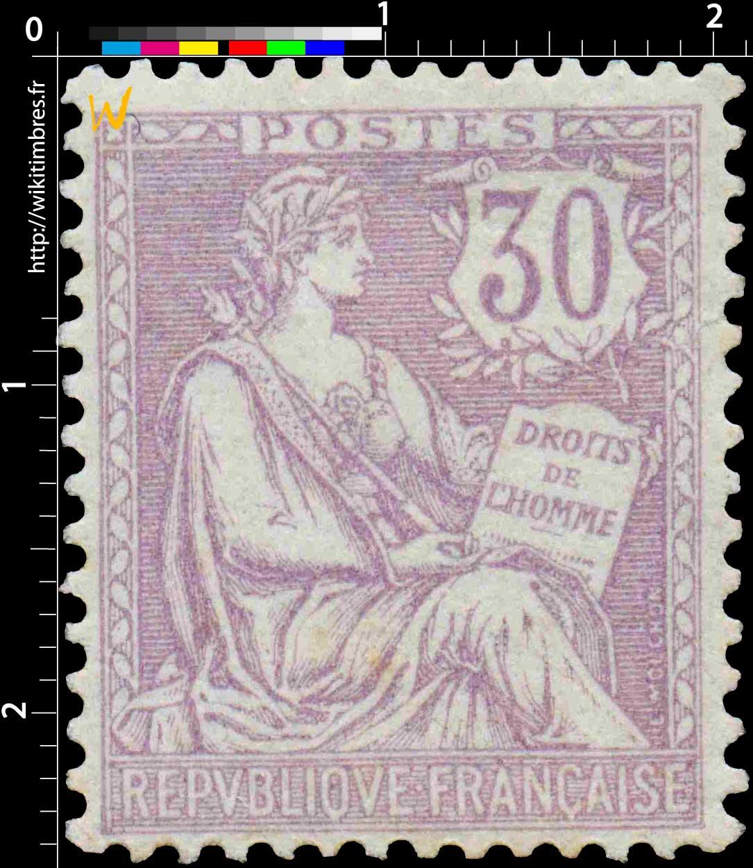 DROITS DE L'HOMME - type Mouchon