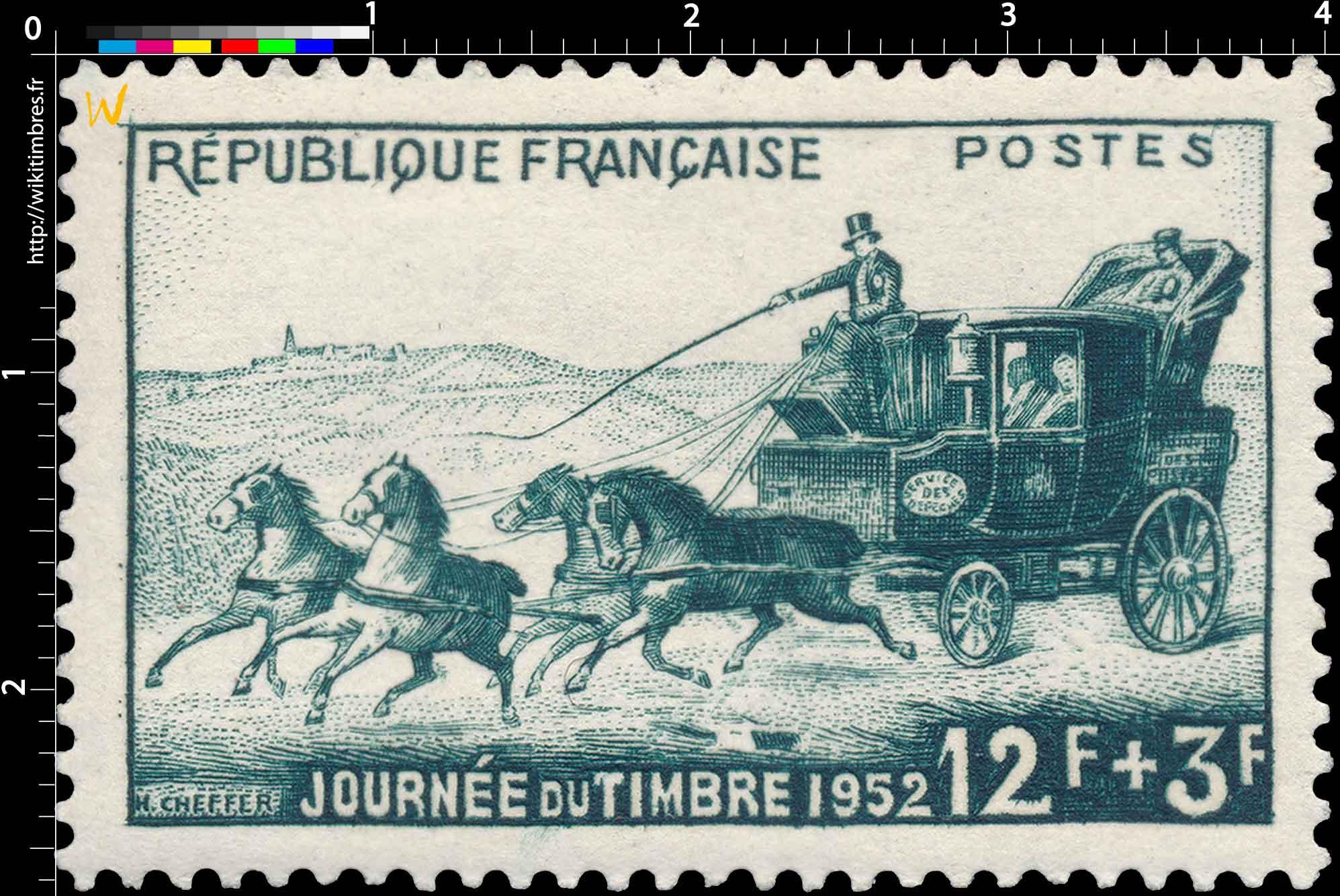 JOURNÉE DU TIMBRE 1952
