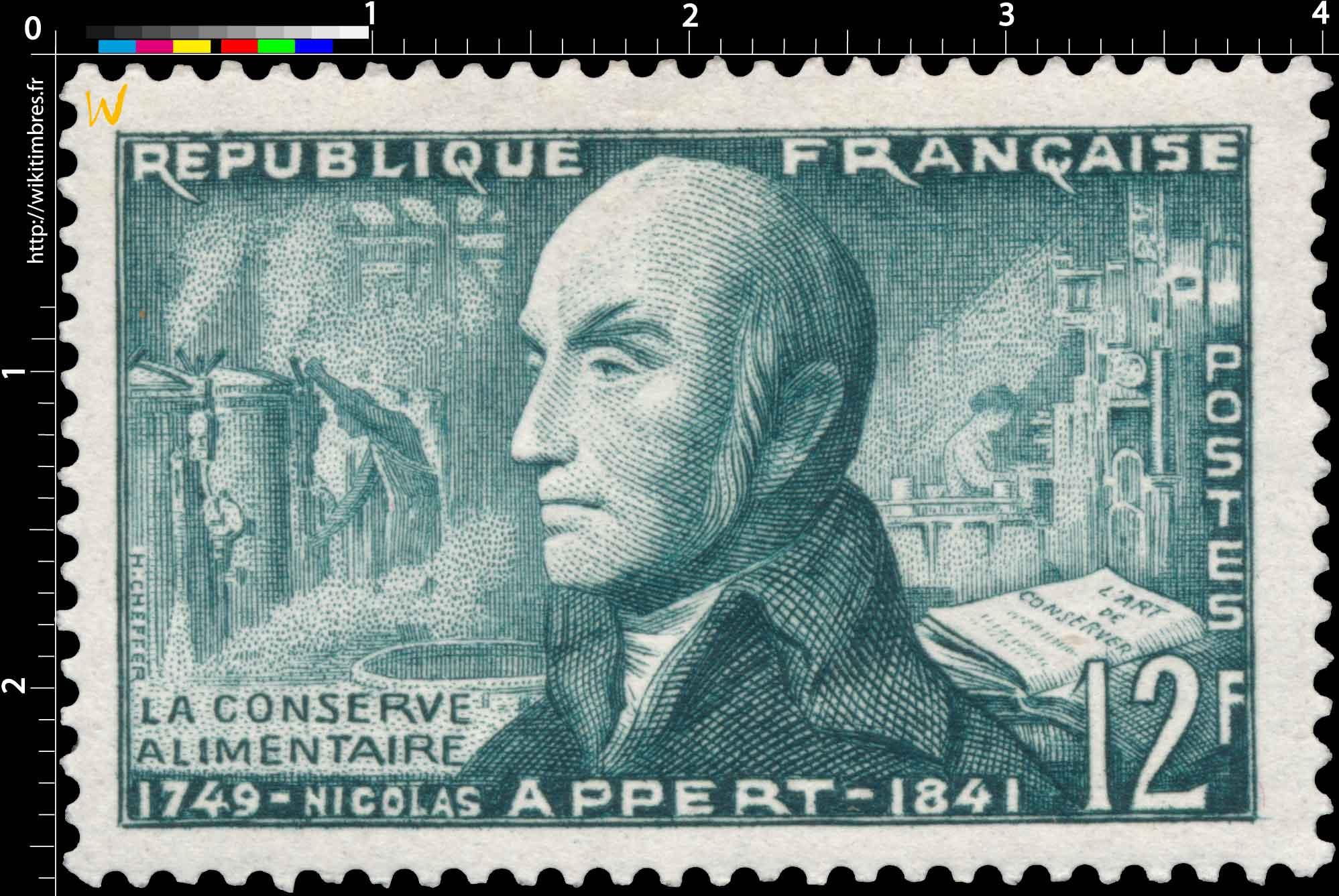 LA CONSERVE ALIMENTAIRE NICOLAS APPERT 1749-1841