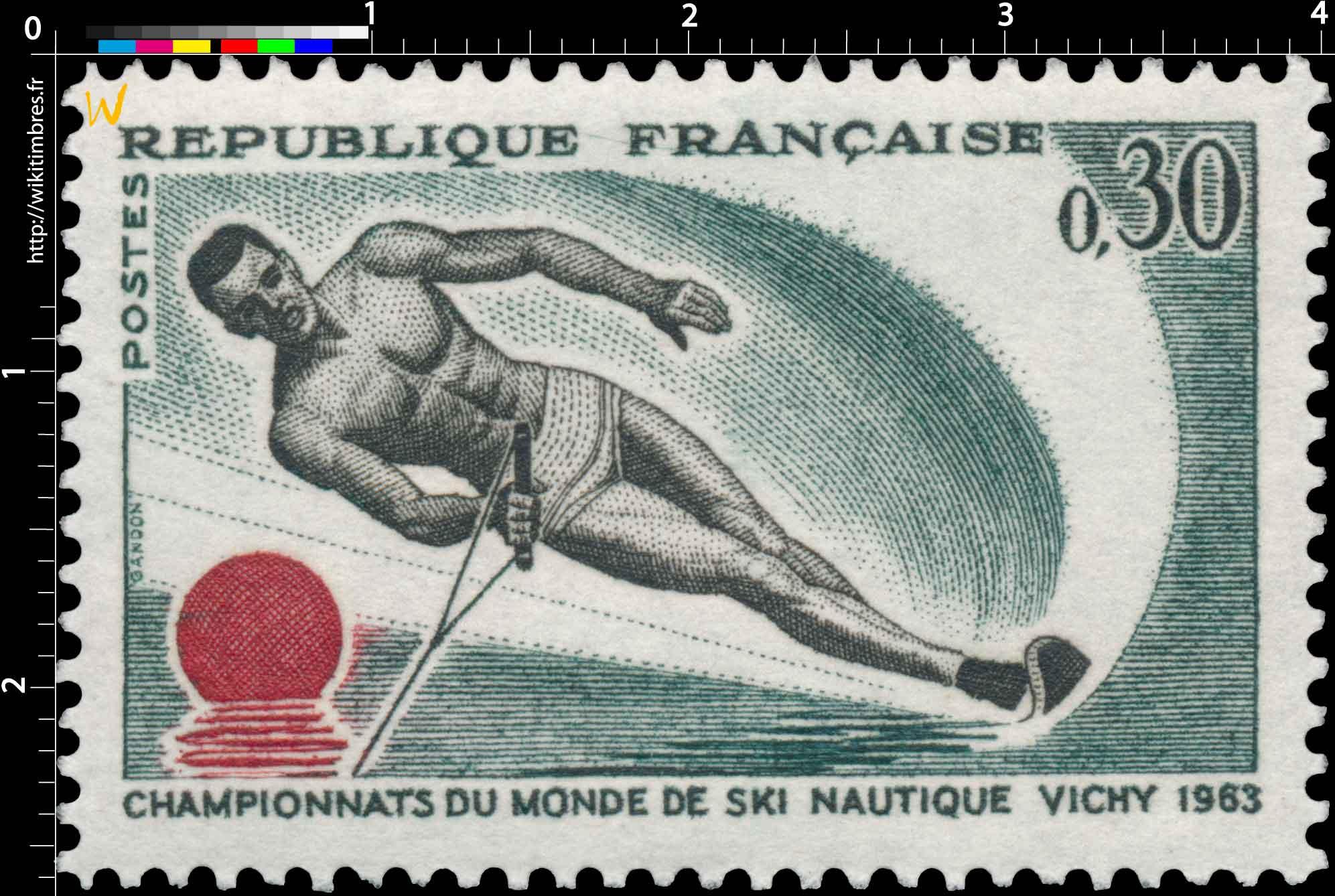 CHAMPIONNATS DU MONDE DE SKI NAUTIQUE VICHY 1963
