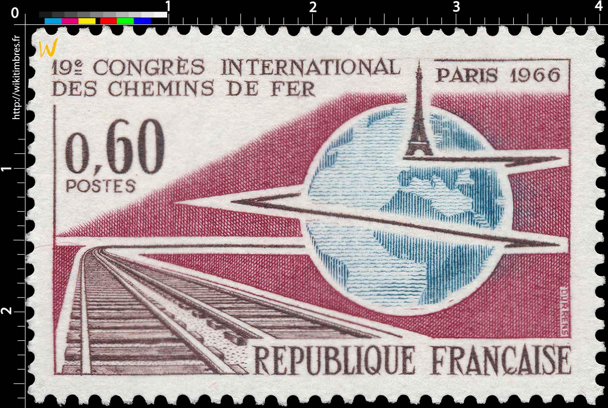 19e CONGRÈS INTERNATIONAL DES CHEMINS DE FER PARIS 1966