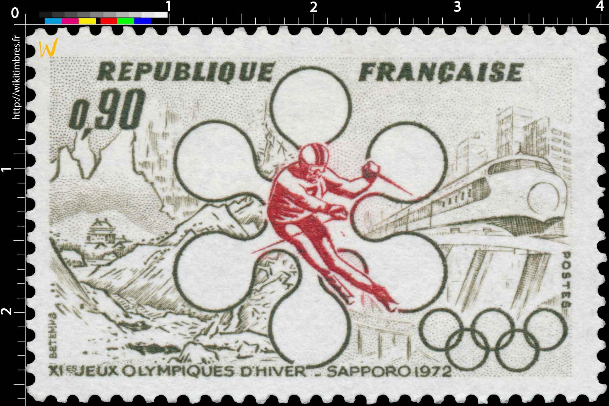 XIe JEUX OLYMPIQUES D'HIVER - SAPPORO 1972