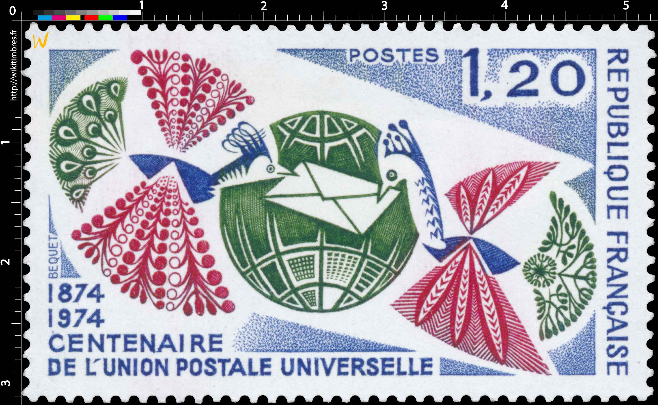 CENTENAIRE DE L'UNION POSTALE UNIVERSELLE 1874-1974