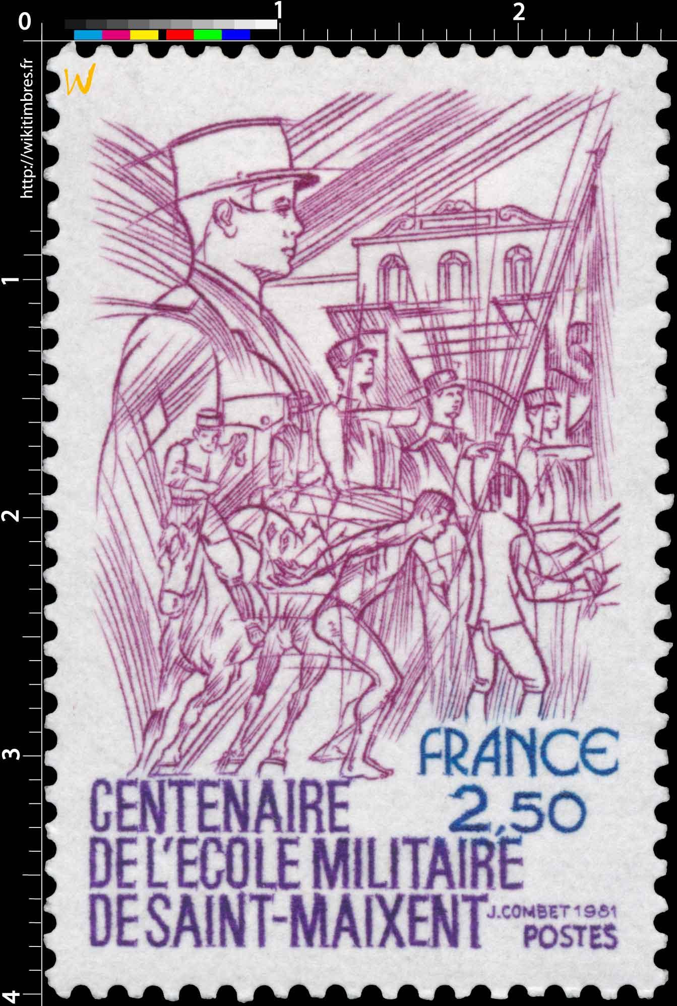 1981 CENTENAIRE DE L'ÉCOLE MILITAIRE DE SAINT-MAIXENT