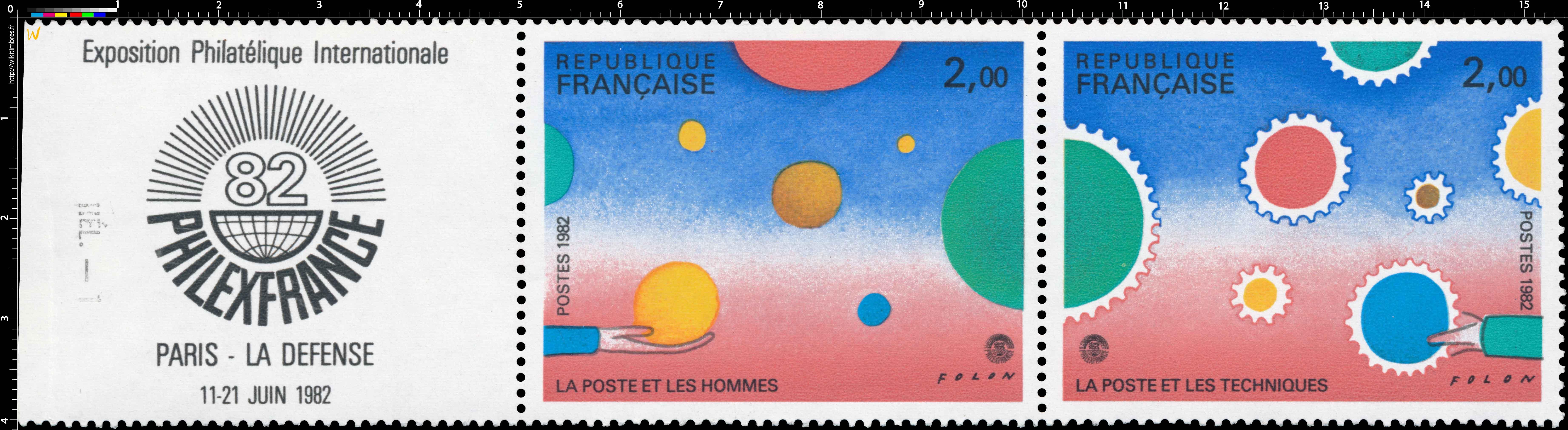 Exposition Philatélique International PHILEXFRANCE 82 PARIS - LA DÉFENSE 11-21 JUIN 1982