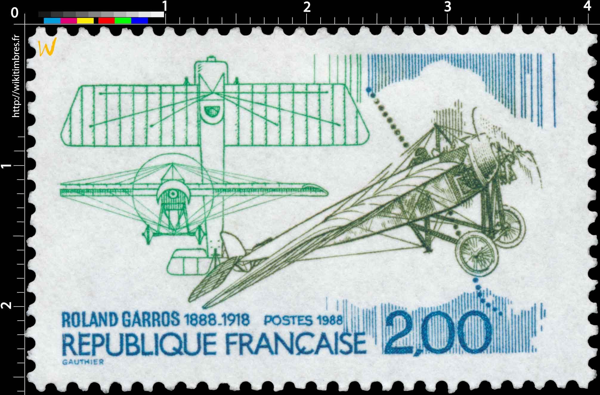 1988 ROLAND GARROS 1888-1918