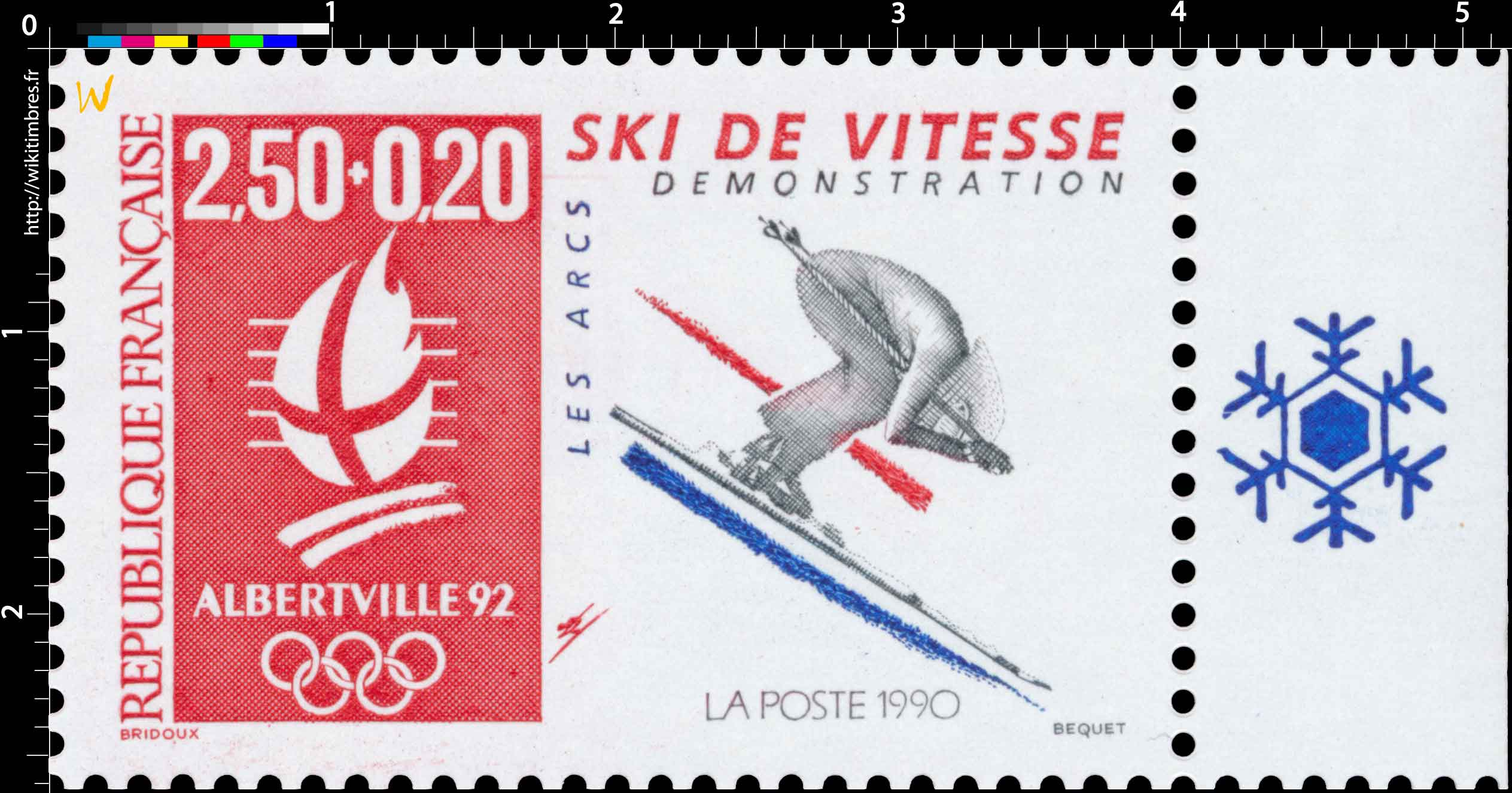 1990 ALBERTVILLE 92. JEUX OLYMPIQUES D'HIVER, SKI DE VI