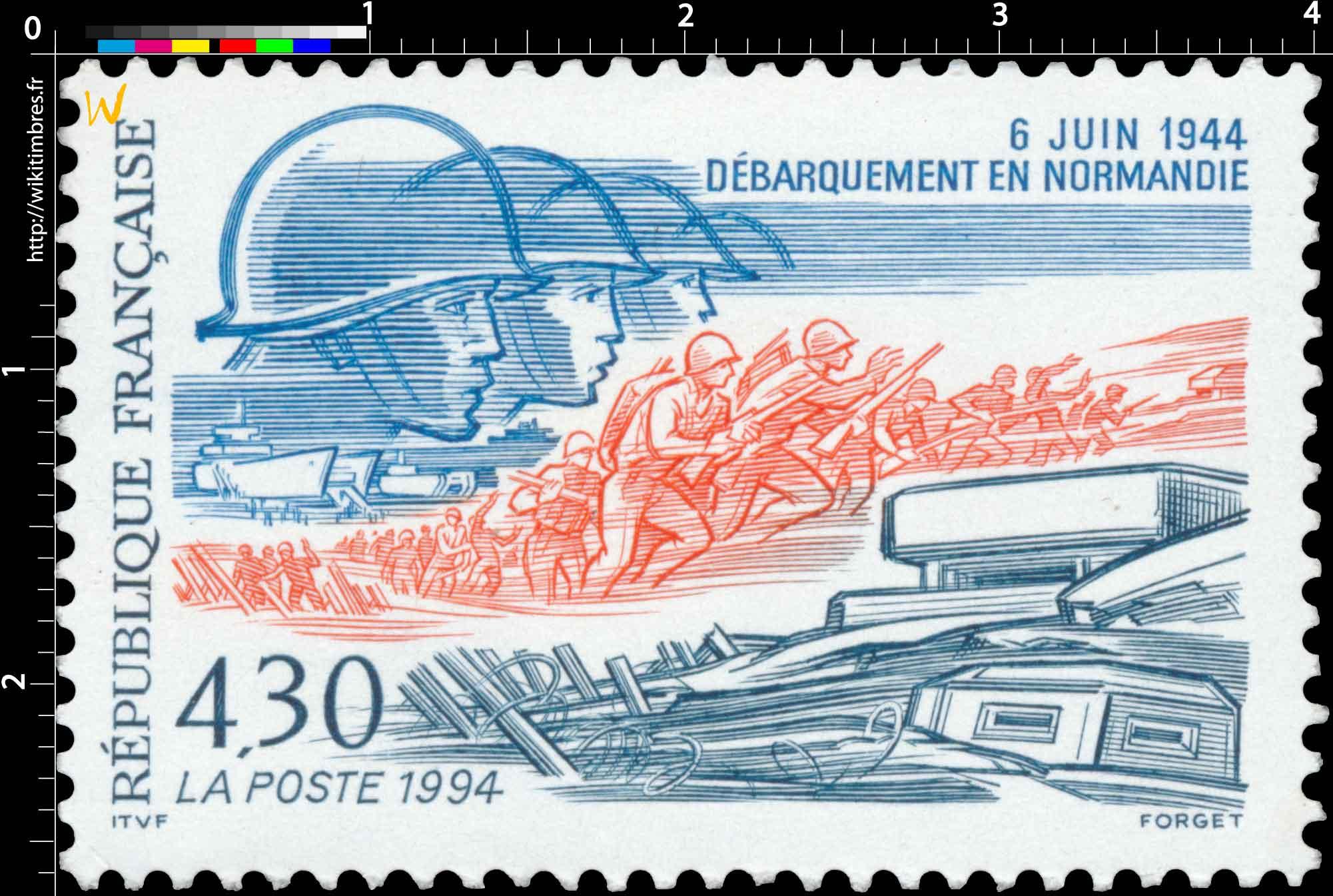 1994 6 JUIN 1944 DÉBARQUEMENT EN NORMANDIE