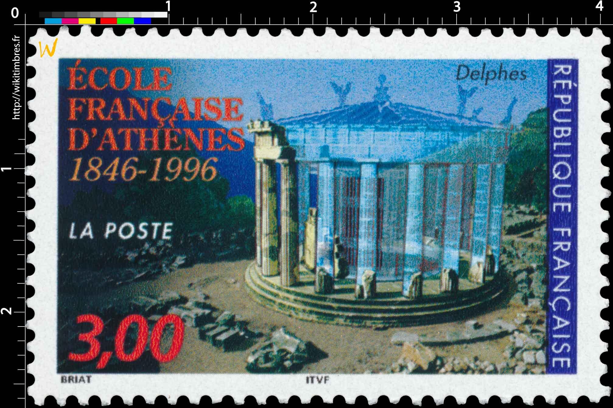 ÉCOLE FRANÇAISE D'ATHÈNES 1846-1996 Delphes