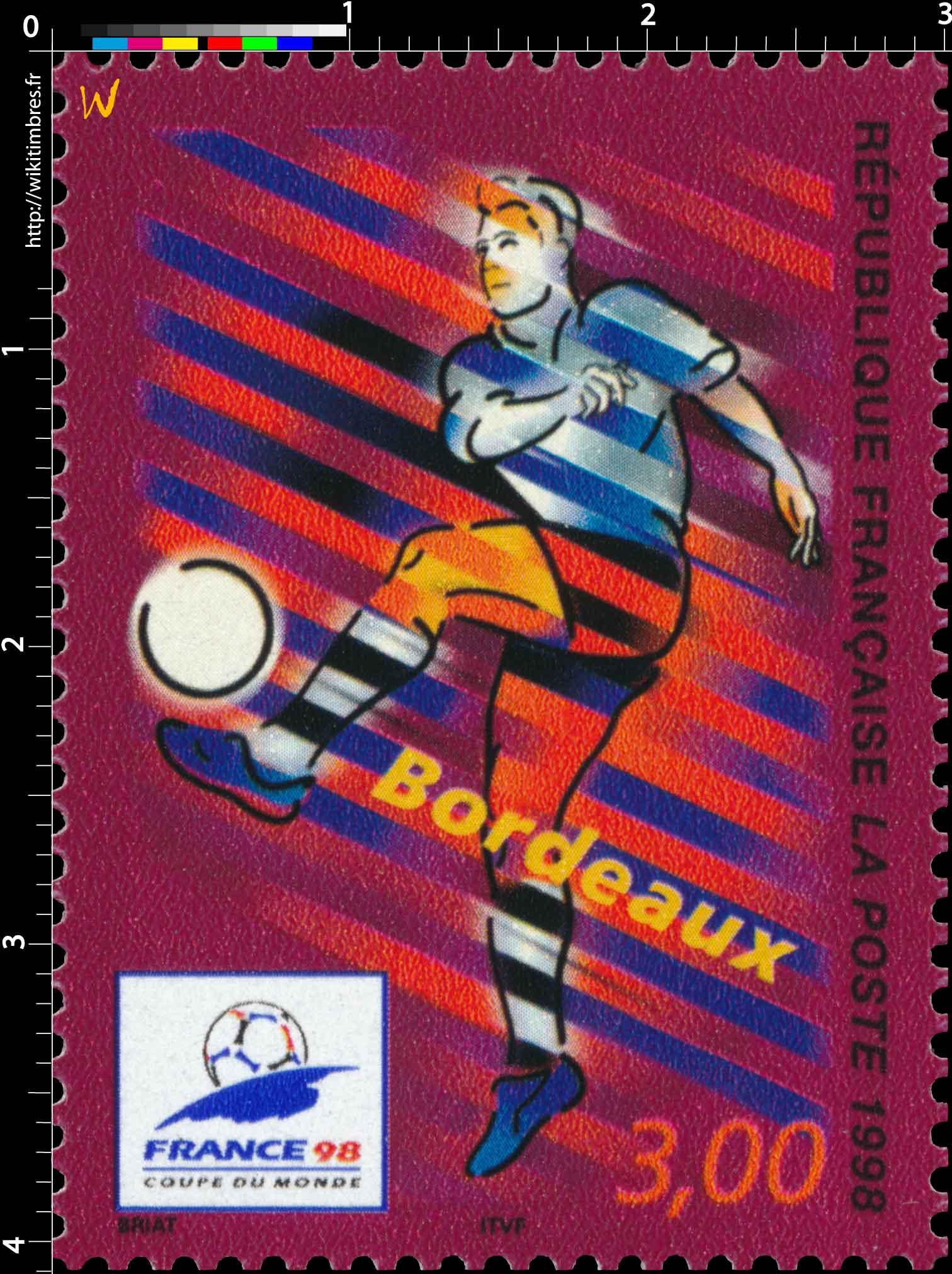 1998 FRANCE 98 COUPE DU MONDE DE FOOTBALL Bordeaux
