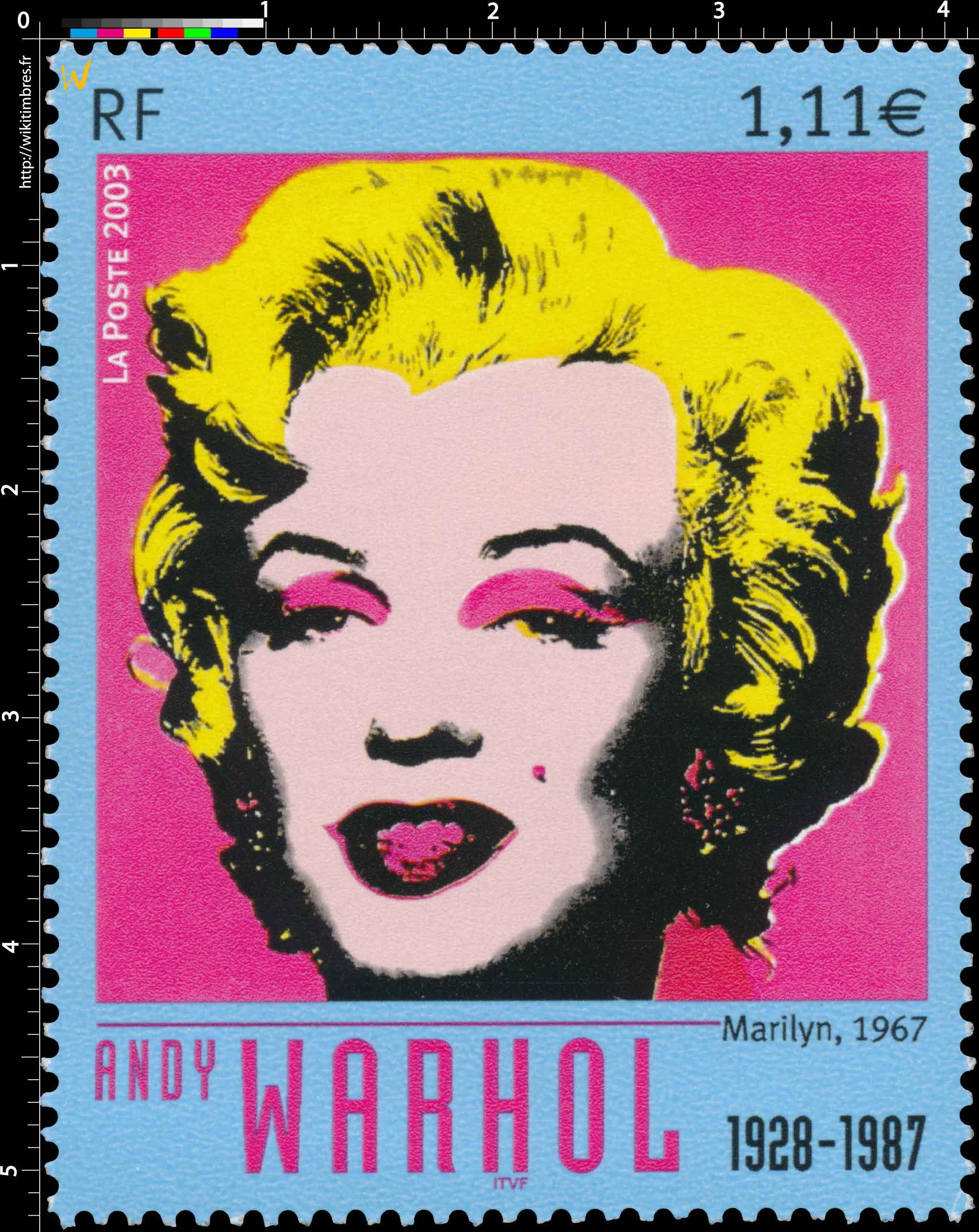 2003 ANDY WARHOL 1928-1987 Marilyn 1967