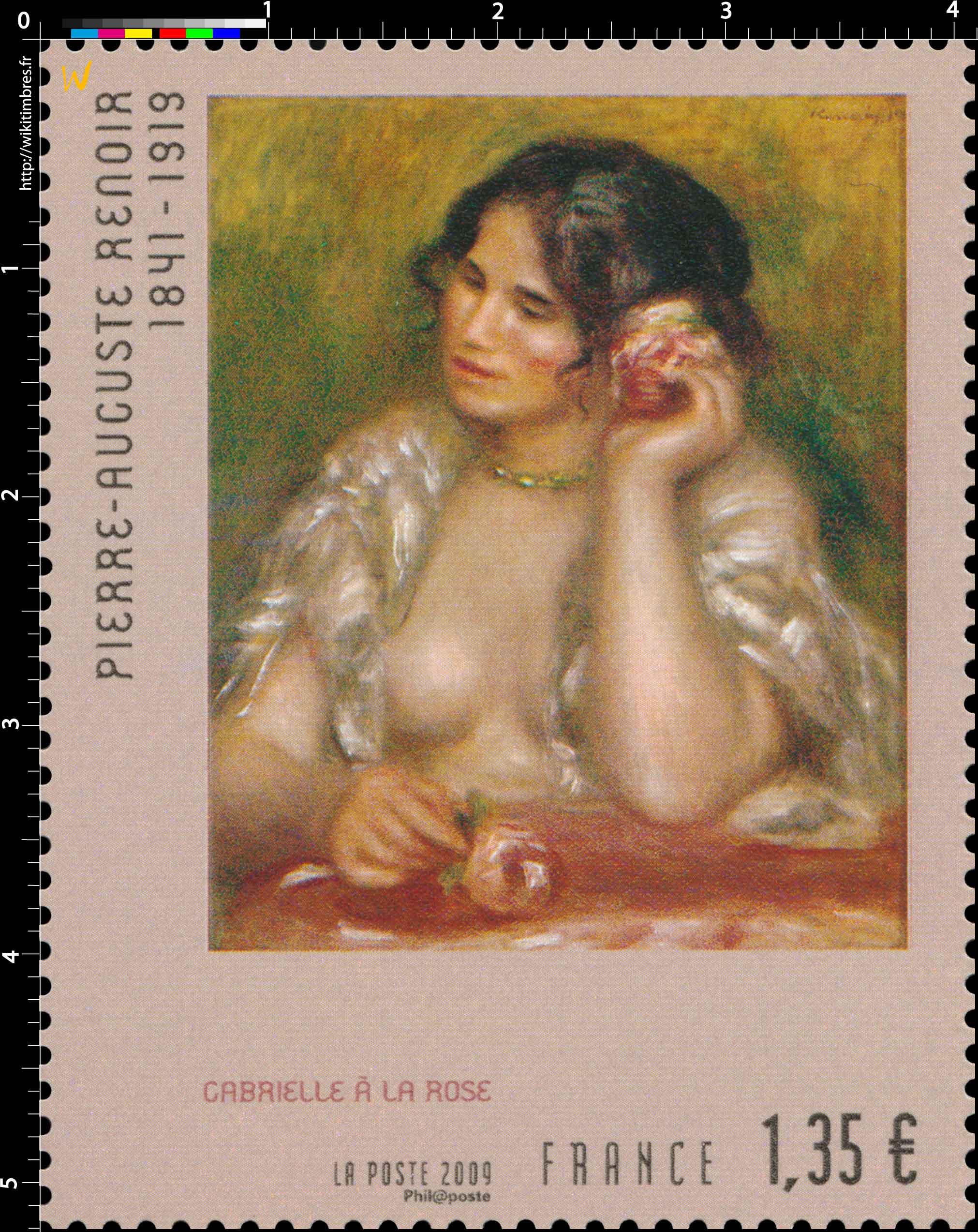 2009 PIERRE-AUGUSTE RENOIR 1841-1919 GABRIELLE À LA ROSE