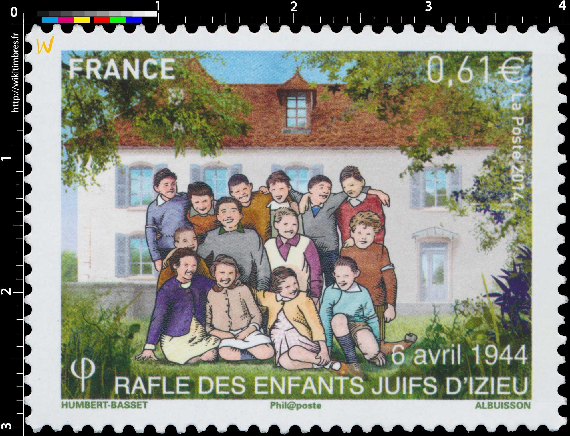2014 Rafle des enfants juifs d'Izieu 6 avril 1944