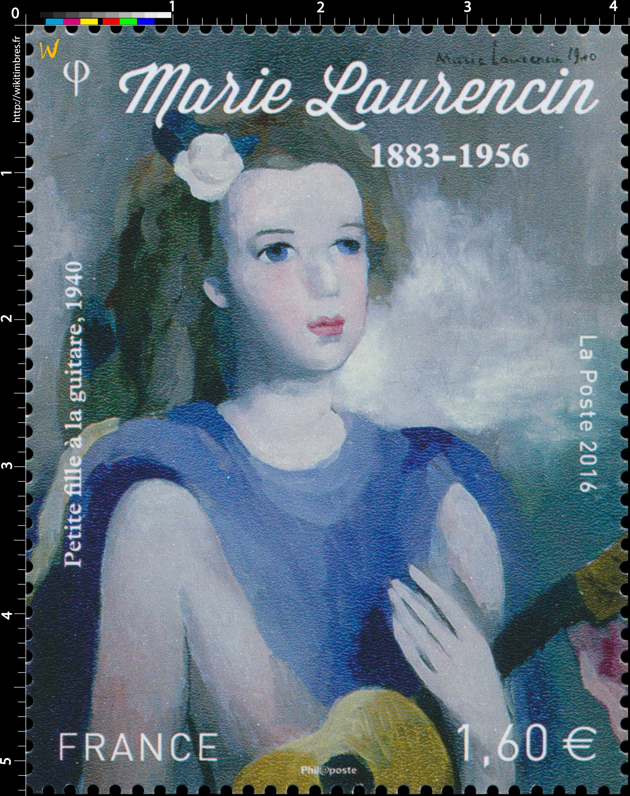 2016 Marie Laurencin 1883 - 1956 - Petite fille à la guitare, 1940