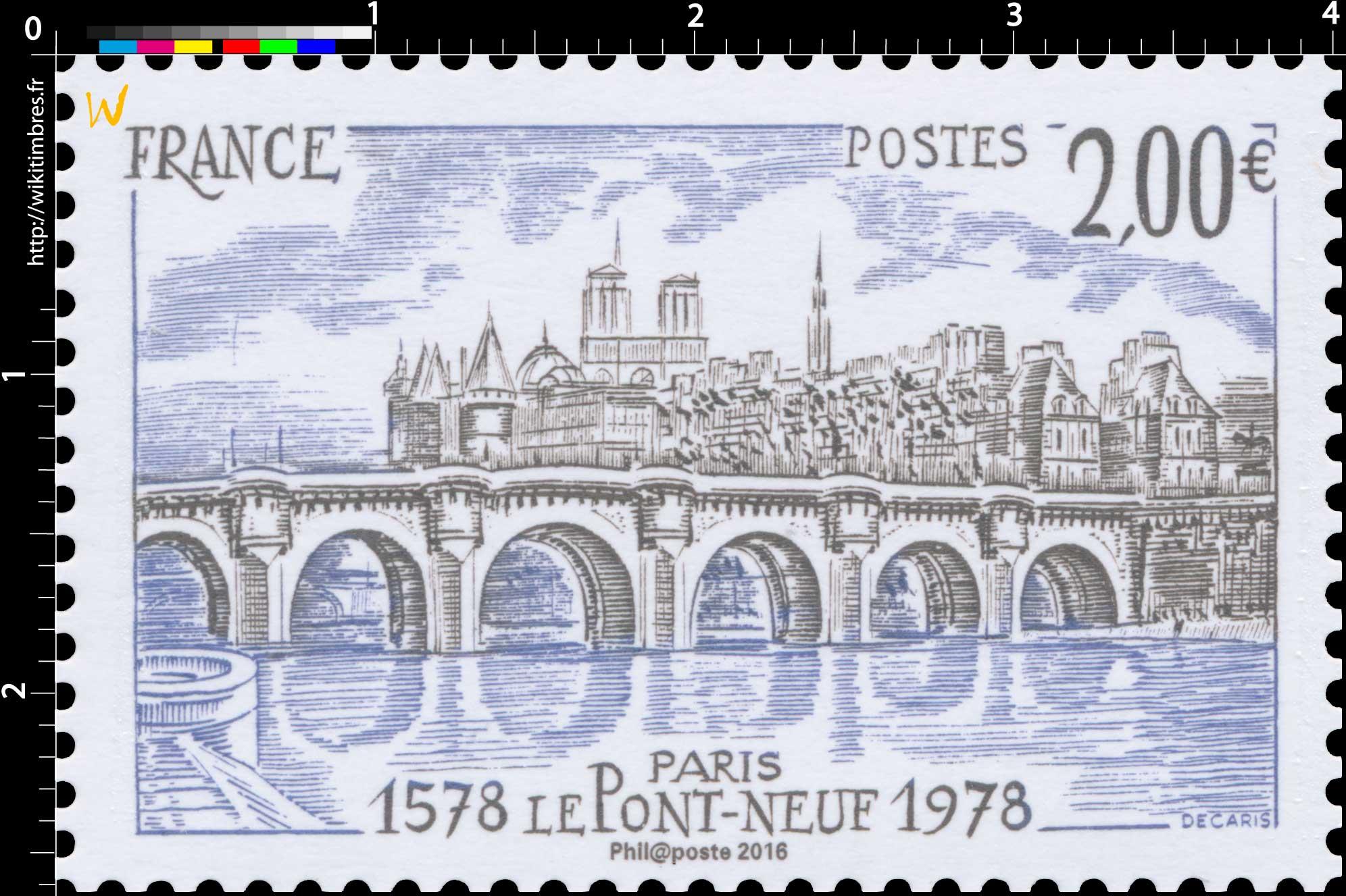 2016 Paris le Pont-Neuf 1978