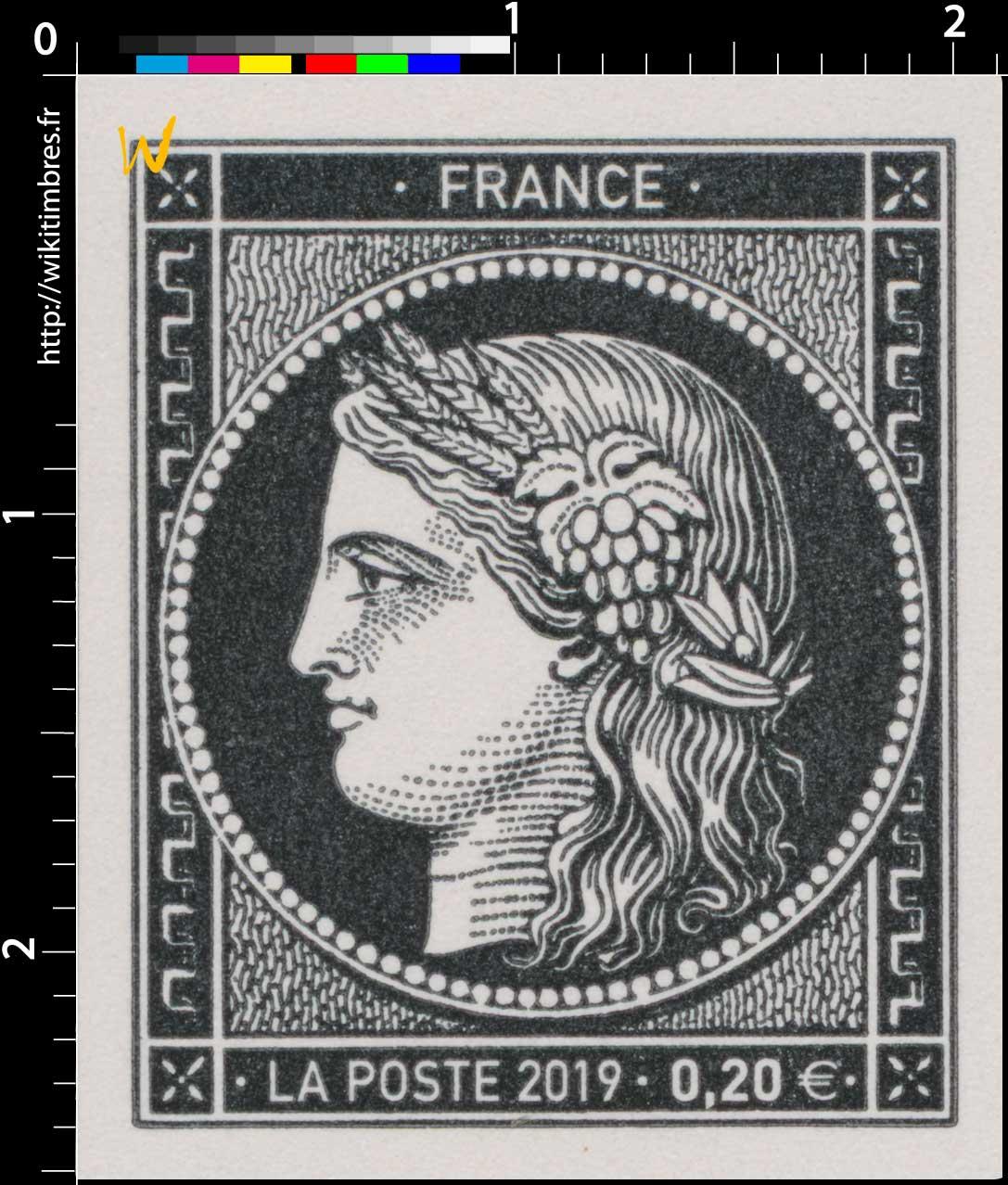 2019 Sans légende particulière - Type Cérès