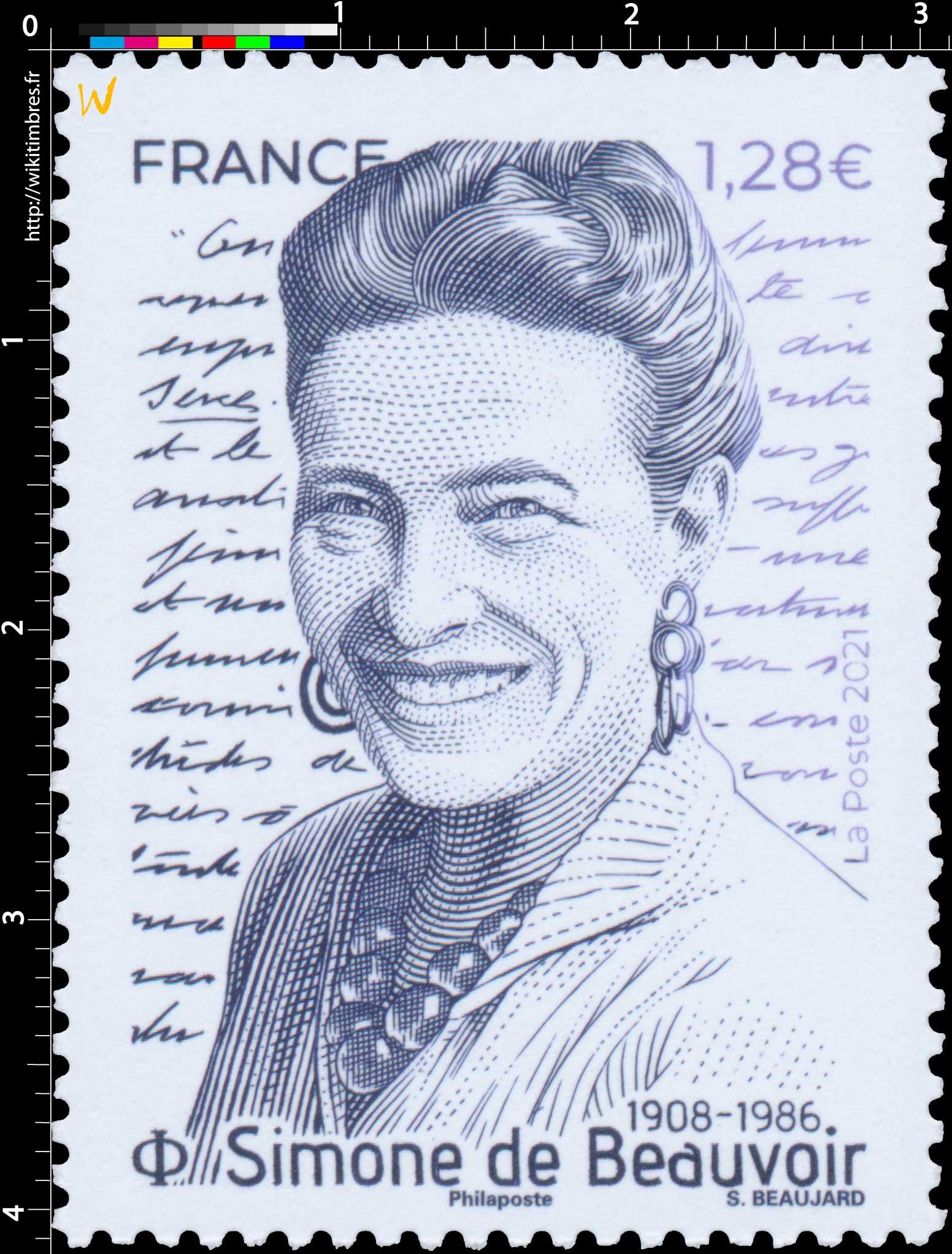2021 Simone de Beauvoir 1908 - 1986